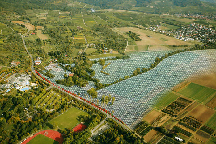 Luftaufnahmen Neckarsulm mit gekennzeichentem Hochwasserüberschwemmungsgebiet