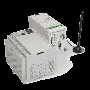 Panasonic SPS und Insys Funk-Modem und Antenne