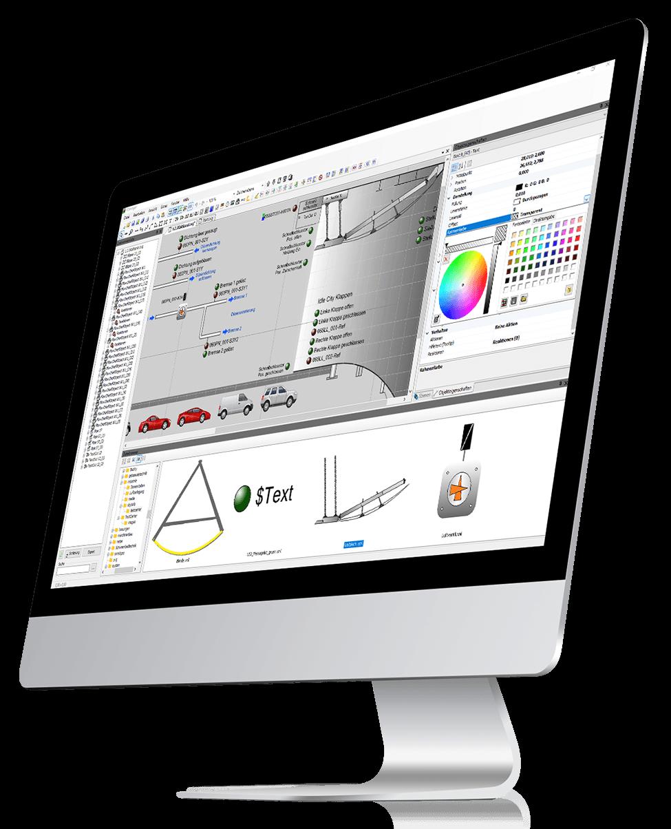 iMac mit Imager Screenshot